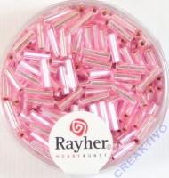 Glasstifte, 7/2 mm, mit Silbereinzug rosé