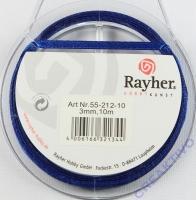 Rayher Satinband 3mm 10m dunkelblau