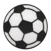 Fun Patches Stoff Aufbügelmotiv Fussball, 5,5cm ø