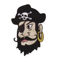Fun Patches Stoff Aufbügelmotiv Pirat, 6x4cm