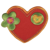 Fun Patches Stoff Aufbügelmotiv Herz, 5x6,5cm