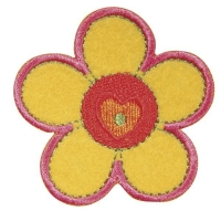 Fun Patches Stoff Aufbügelmotiv Blume, 5x5,5cm