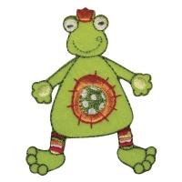 Fun Patches Stoff Aufbügelmotiv Frosch, 6x5cm