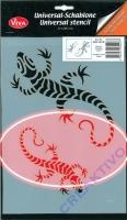 Universal-Schablone Gecko