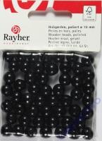 Rayher Holzperlen FSC, poliert 10mm 52St schwarz