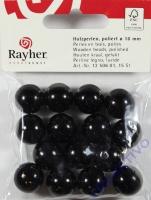 Rayher Holzperlen FSC, poliert 16mm 15St schwarz