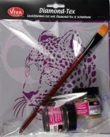 Diamond Tex & Schablone - Leopard
