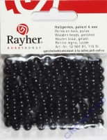 Rayher Holzperlen FSC, poliert 6mm 115St schwarz