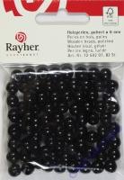 Rayher Holzperlen FSC, poliert 8mm 82St schwarz