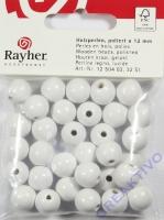 Rayher Holzperlen FSC, poliert 12mm 32St weiß