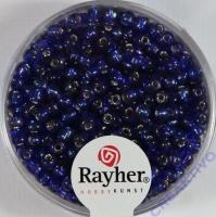 Rocailles 2,6mm ø mit Silbereinzug dunkelblau