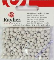 Rayher Holzperlen FSC, poliert 6mm 115St weiß