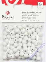 Rayher Holzperlen,FSC,  poliert 8mm 82St weiß