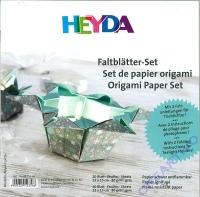 Heyda Faltblätter-Set Origami Papier Set Lucia silber