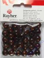 Rayher Holzperlen FSC, poliert 12mm 32St dunkelbraun