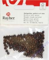 Rayher Holzperlen, poliert FSC 4mm 150St dunkelbraun