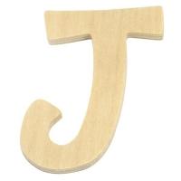 Holz-Buchstabe 6cm J