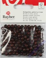 Rayher Holzperlen FSC, poliert 6mm 115St dunkelbraun