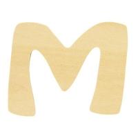 Holz-Buchstabe 6cm M