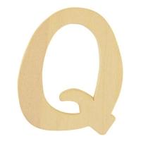 Holz-Buchstabe 6cm Q