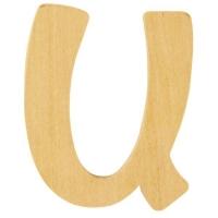 Holz-Buchstabe 6cm U