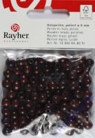 Rayher Holzperlen FSC, poliert 8mm 82St dunkelbraun