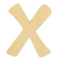 Holz-Buchstabe 6cm X