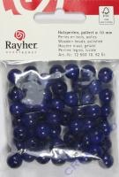 Rayher Holzperlen FSC, poliert 10mm 52St dunkelblau