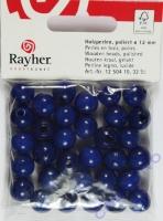 Rayher Holzperlen FSC, poliert 12mm 32St dunkelblau