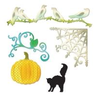 Sizzix Thinlits Die Set 5PK - Pumpkin, Cat, Crows & Web