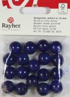 Rayher Holzperlen FSC, poliert 14mm 18St dunkelblau