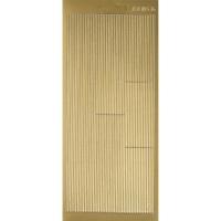 Rayher Stickerbogen Linien 22x9cm goldf.