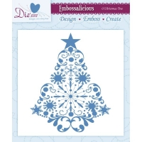 Embossingschablone O Christmas Tree 15,2 x 15,2cm