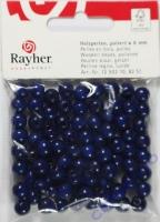 Rayher Holzperlen FSC, poliert 8mm 82St dunkelblau