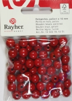 Rayher Holzperlen FSC, poliert 10mm 52St rot