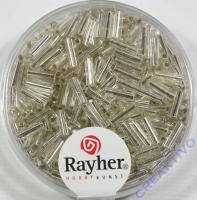 Glasstifte, 7/2 mm, mit Silbereinzug silber