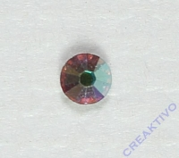 Straß-Stein flach 1,7-1,9mm 1 Stück kristall AB