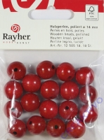Rayher Holzperlen FSC, poliert 14mm 18St rot