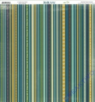 Scrapbooking Papier Snow Day Stripe (Restbestand)