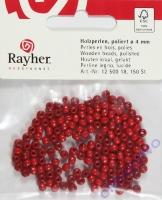 Rayher Holzperlen FSC, poliert 4mm 150St rot