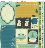 Scrapbooking Papier Snow Day Journal (Restbestand)