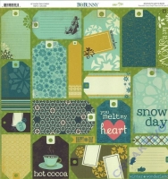 Scrapbooking Papier Snow Day Cards (Restbestand)