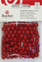 Rayher Holzperlen FSC, poliert 8mm 82St rot