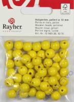 Rayher Holzperlen FSC, poliert 10mm 52St gelb
