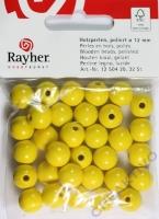 Rayher Holzperlen FSC, poliert 12mm 32St gelb