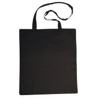 Baumwoll-Tasche m. langen Henkeln, schwarz