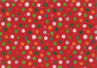 Bastelkarton Weihnachten Kugeln rot