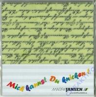 Faltblätter Transparentpapier 15x15cm Schriften (Restbestand)