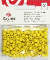Rayher Holzperlen FSC, poliert 6mm 115St gelb