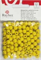 Rayher Holzperlen FSC, poliert 8mm 82St gelb
